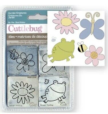 CUTTLEKIDS Cuttlebug  SEA CREATURES 4 Dies Seahorse Crab Octopus Starfish