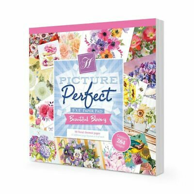 """Hunkydory Picture Perfect Pad Beautiful Blooms  8""""x8"""", 48pg"""