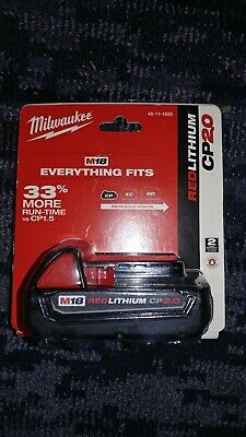 Genuine Milwaukee M18 2.0 Compact Cordless Battery Pack 2.0 18V Lithium-ion