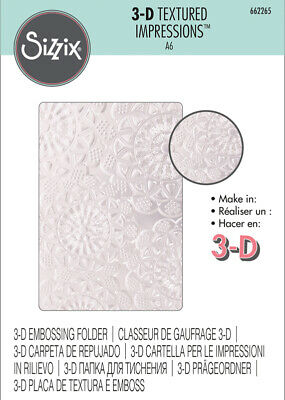 Sizzix 3D Textured Impressions Embossing Folder Doily  1pc