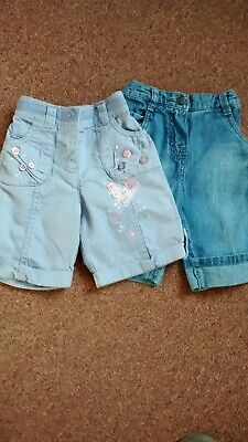 Two Pairs Of Girls Trousers Age 6-9 Months Next/Mothercare