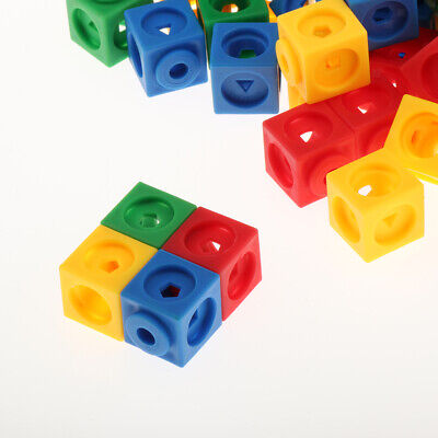 Set of 200 Education Learning Resources Mathlink Cubes Maths Starter New