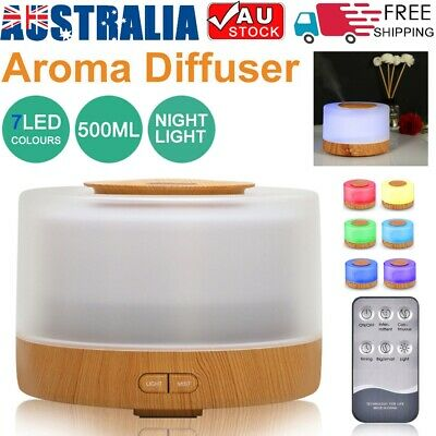 New 7 LED Aromatherapy Diffuser 500ml Humidifier Aroma Essential Oils Ultrasonic