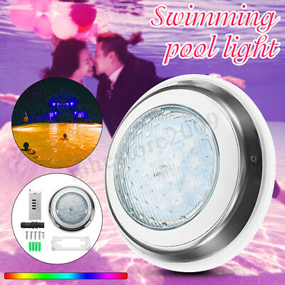 54W Underwater Swimming Pool SPA Light Waterproof RGB 7Color LED Remote   3