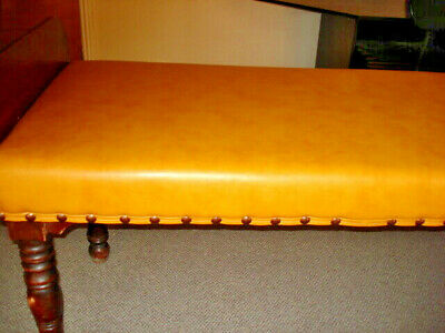 Victorian  Doctors Psychiatrists Couch Examination Table Leather top