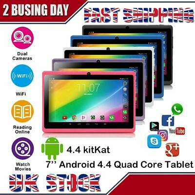 7 Inch Kids Android 4.4 Tablet PC 8GB Quad Core Dual Camera Wifi HD Tablets