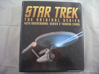 Star Trek Original Series 40th Anniversary Card Binder and Base set
