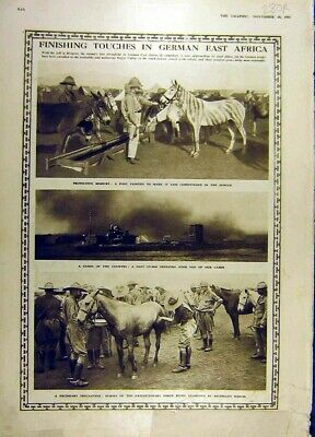 Old Antique Print 1916 German-Africa Horses French Priest Religious Ww1 20th