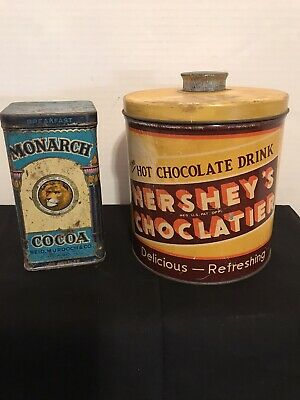 Vintage Tins, Hershey's Choclatier & Monarch Cocoa