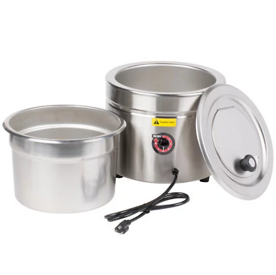 11 Qt Stainless Steel Soup Kettle Warmer Commercial Restaurant Buffet Catering