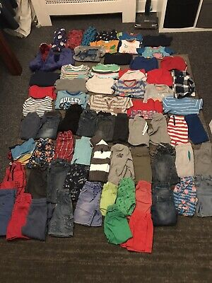 Baby Boys Clothes Bundle 2-3 Years 75 Items