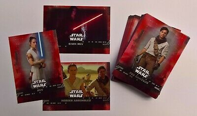 2019 Topps Star Wars Rise of Skywalker RED WALMART EXCLUSIVE PARALLELS (Pick)