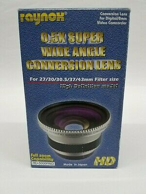 Raynox HD-5000PRO 0.5 Super Wide Angle Conversion Lens NEW IN BOX
