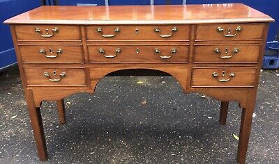Antique Georgian Mahogany Secretaire Sideboard Dresser Desk Table Serving