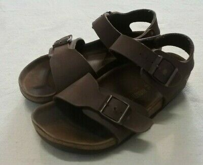 Birkenstock Dark Brown Leather Sandals Size 34 Unisex