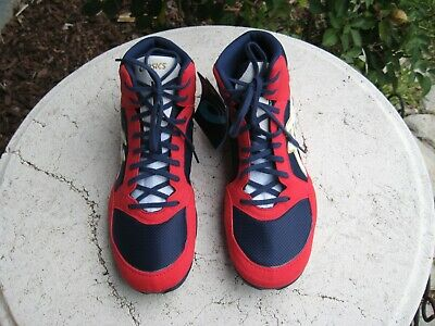 Asics NEW Snapdown 2 Wrestling Shoes Adult Men's Red/Blue 1081A024-400 men's 10