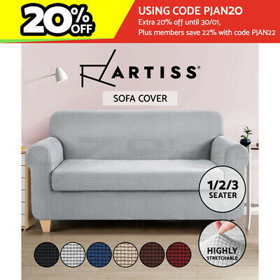 Artiss 2 Pieces Sofa Cover 1/2/3 Seater Elastic Stretch Couch Covers Recliner