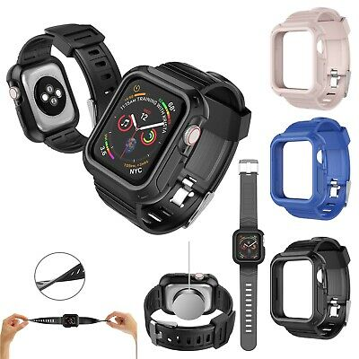 Rugged Protective Case Cover with Wrist Strap For Apple Watch Series 4/5 40 44mm