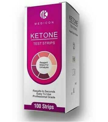 100 x KETO/KETOSIS/KETONE/DIABETES URINE TEST STRIPS - CHEAPEST ON EBAY