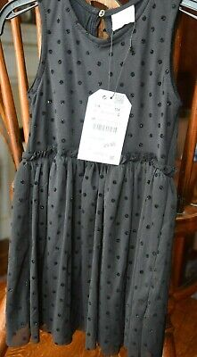 Zara girls black party dress. Age 4. New with label attached.