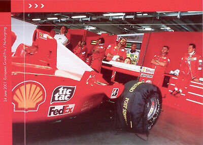 Postcard Ferrari F1 European Grand Prix / Nurburgring 2001 - Michael Schumacher