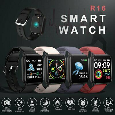Smart Watch Heart Rate Oxygen Blood Pressure Fitness Tracker for IOS Android UK