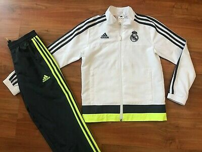 Boys ADIDAS REAL MADRID TRACKSUIT TOP & BOTTOMS (age9-10) *GREAT COND*