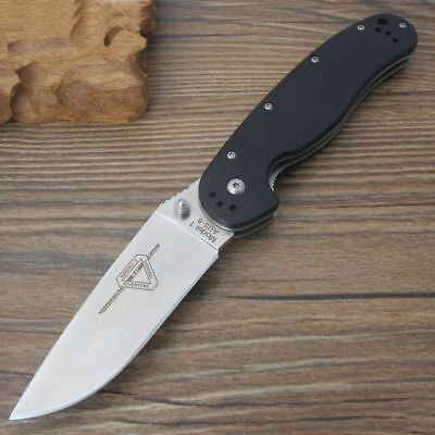 Ontario RAT Model 1 Big Size Folding knife AUS-8 Blade G10 handle High Quality