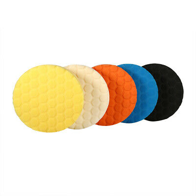 5pcs 7 Inch Buffing Sponge Polishing Pad Hand Tool Kit For Car Polisher Wax
