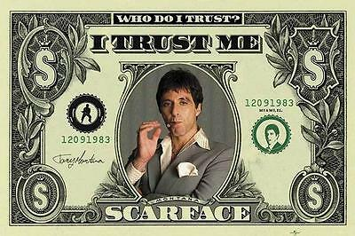 Scarface Filmposter Dollar Bill