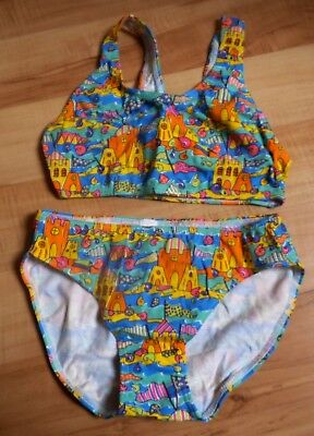 Lovely Girls Cotton Mix Stretch Crop Top & Bottoms SwimSet Age 5-7years -BNWOT