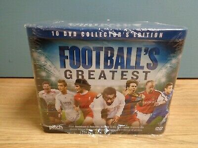 Football's Greatest 10 Disc DVD Box Set Collector's Edition Gift Tin Box Sealed