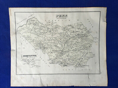 1876 antique map PENNNSYLVANIA penn BOQUETTE westmoreland COUNTY glessner house