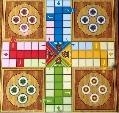 Large Wooden Effect Cardboard Ludo Traditional Family Board Game Adults Kids New