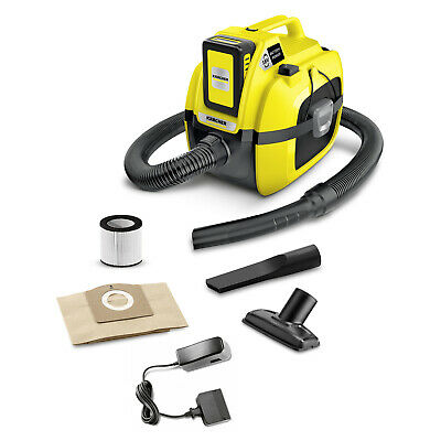 Karcher Wd1 Compact Battery Wet And Dry Vacuum Cleaner 1.198-302.0