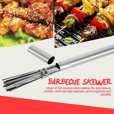 10× Stainless Steel 30 35 40 45cm Barbecue BBQ Skewers