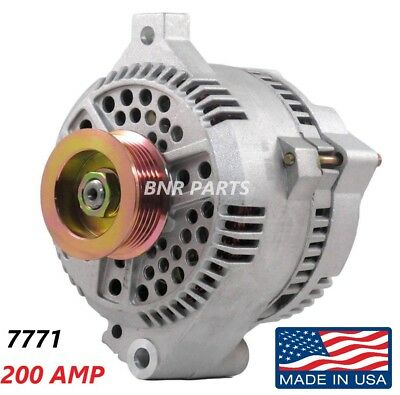 200 AMP 7771 Alternator Ford Mustang Mercury High Output Performance HD NEW USA