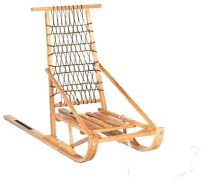 Folding Wooden Snow Dog Sled- Shipping Canada And Usa  ( Cda $ )