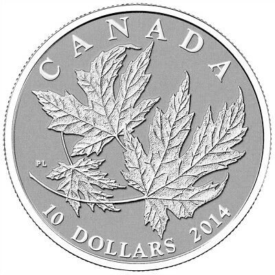 Maple Leaf - 2014 Canada $10 Fine Silver Coin