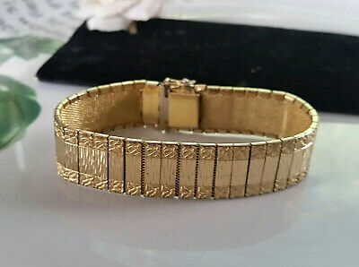 Art Deco antikes Teppich Armband  + Amerikaner Gold Double + A*D