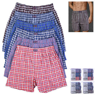 12 Mens Plaid Boxer Shorts Lot Underwear Pack Briefs Comfort Waistband Small New