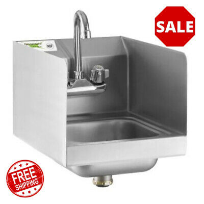 Stainless Steel Table Mount Dipperwell Sink w// NO LEAD Faucet NSF HS-DSREG