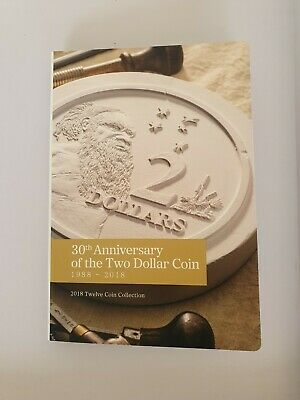2018 30Th Anniversary Of The $2 Dollar Coin Folder Set Of 9 Coins Unc
