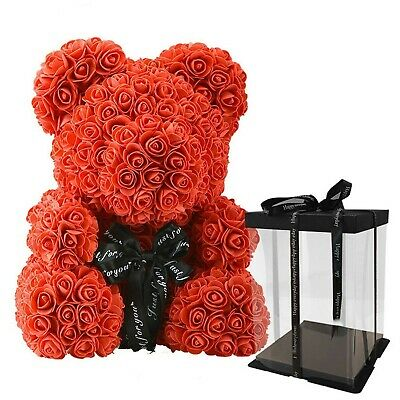 The Red Rose Bear Forever Roses Artificial Valentines Day