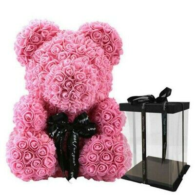 The Pink Rose Bear Forever Roses Artificial Valentines Day