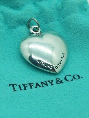 Authentic TIFFANY & CO. Sterling Silver Puffy Heart Pendant