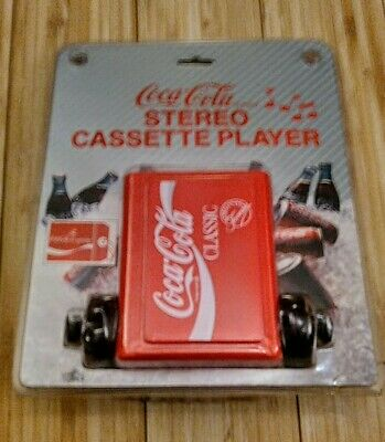 1989 Coca-Cola Classic Stereo Cassette Player with Headphones