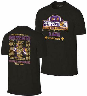 LSU Tigers National Championship Champs Perfection T-shirt 2019-2020 Schedule