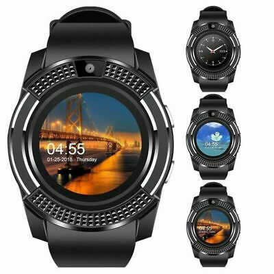 V8 Smart Watch&SIM Phone&Bluetooth Camera&GPS For Samsung iphone iOS Android UK#
