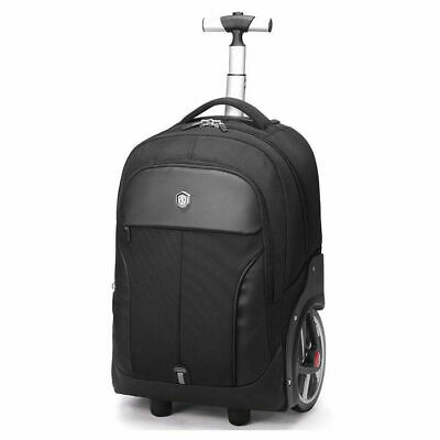 Aoking Rolling Travel Backpack Wheeled Laptop Rucksack Trolley Luggage 20 inch